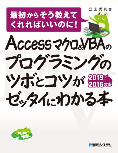 Accessマクロ&VBAのプログラミングのツボとコツがゼッタイにわかる本 2019/2016対応 / 立山秀利