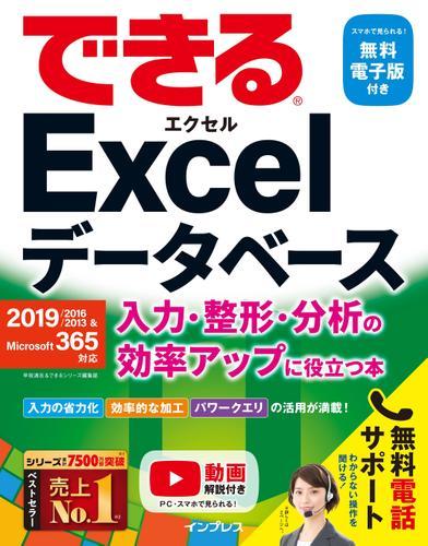 できるExcelデータベース 入力・整形・分析の効率アップに役立つ本 2019/2016/2013 & Microsoft 365対応 / 早坂清志